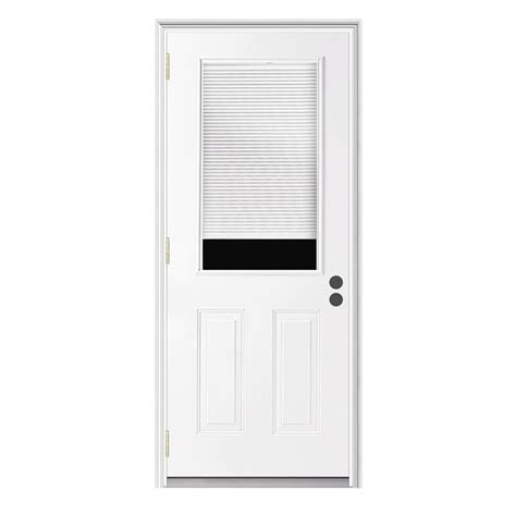 outswing doors exterior shop reliabilt blinds between the glass half lite prehung
