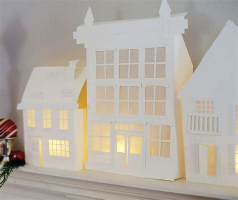 crooked house paper houses and towns templates and cut
