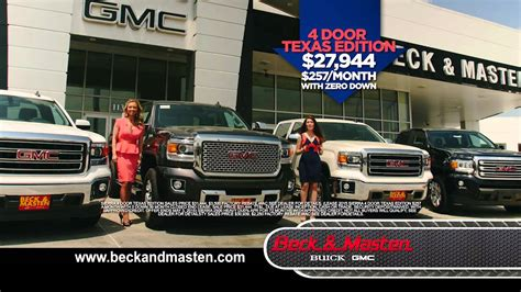 beck and masten buick into savings with the new 2014 gmc sierras beck
