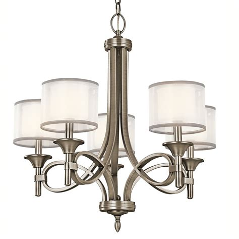 Kichler Lights Kichler 42381ap Chandelier 5 Light 300 Watts Antique Pewter