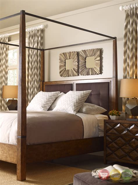 California King Canopy Bed Echo Park Birch California King Canopy Bed With Stipple Stained Finish