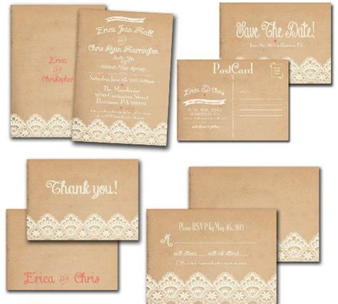 brown paper wedding invitations brown paper wedding invitations