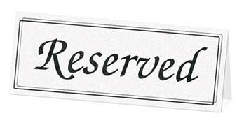 Reserved Cards For Tables Templates by Wedding Place Card Holders Wedding Placecard Holders