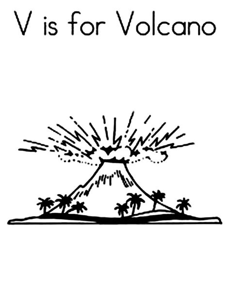 V Is For Volcano Coloring Page by V Is For Volcano Coloring Page Netart