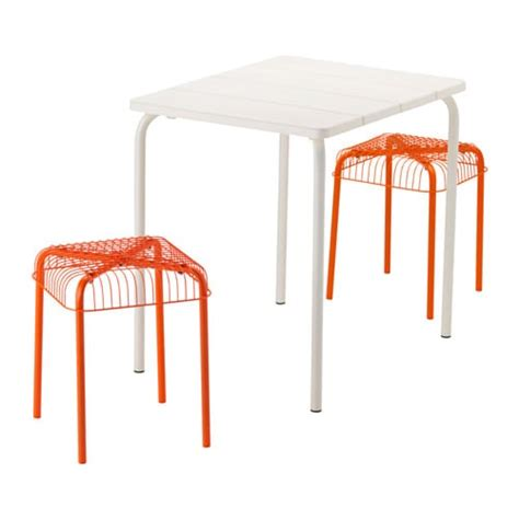 ikea vasteron bench v 196 dd 214 v 196 ster 214 n table and 2 stools outdoor white orange ikea