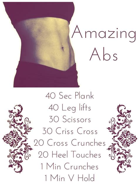 easy at home ab workout abs only