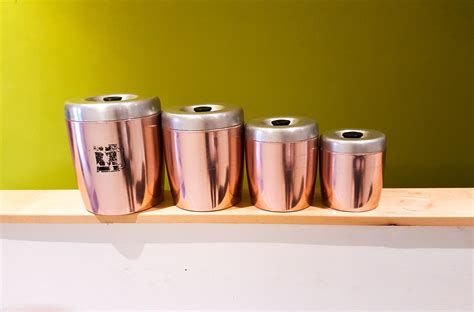 beautiful kitchen canisters beautiful set of pink anodized aluminum kitchen canisters