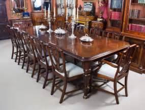 antique victorian mahogany dining table   shield