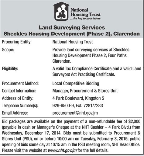national housing trust national youth service jamaica information service quotes