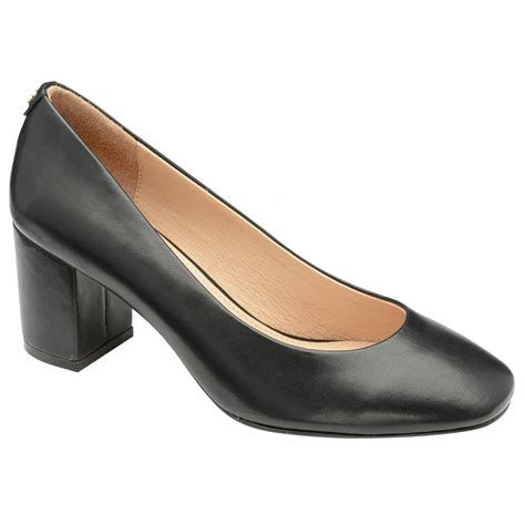 heeled shoes ravel weston block heeled court shoes black