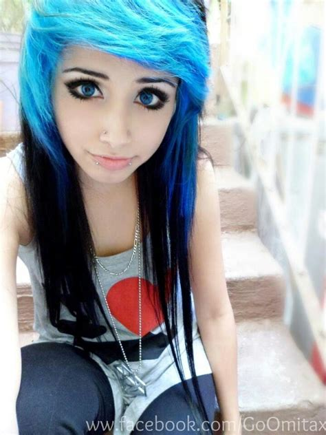 omita blue blue and black hair emos and