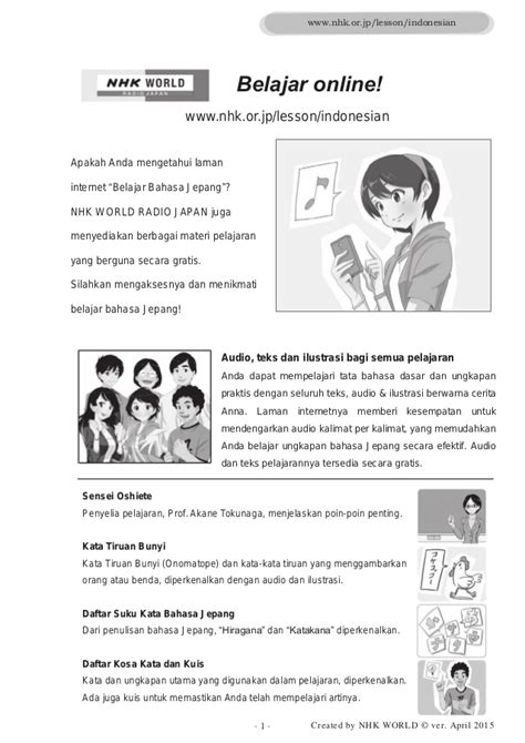 bahasa jepang bagi wisatawan gratis cd audio belajar bahasa jepang