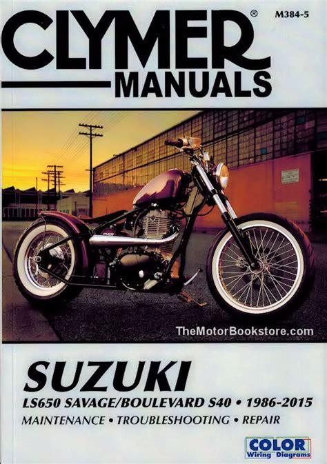 Suzuki Boulevard Owners Manual Suzuki Savage Repair Manual By Clymer 1986 2015 Ls650