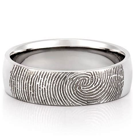 Wedding Rings Band by Fingerprint Wedding Band S Fingerprint On Outside Of