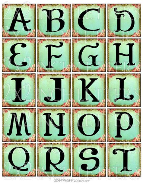 printable vintage alphabet cards 6 best images of free vintage printable alphabet designs