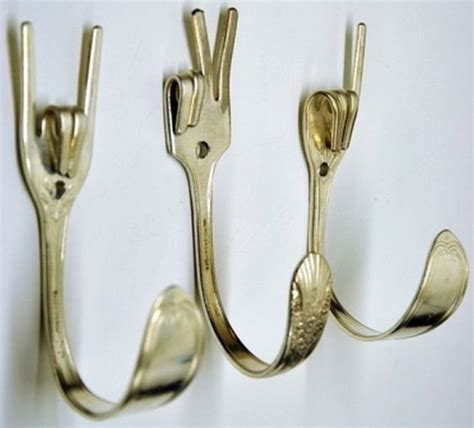 how to bend silverware to make jewelry turn everyday items into hooks easy diys ideas