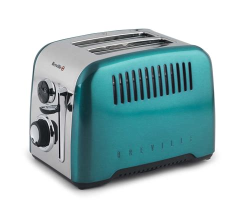 Teal Toaster breville vtt721 teal 2 slice stainless steel toaster kettles toasters no1brands4you