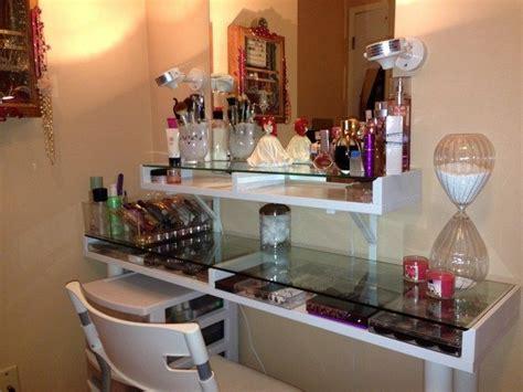 mirrored makeup storage   stylish   unclutter