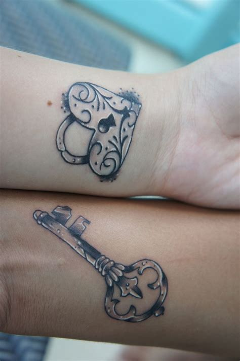 tattoos of lock and key for couples his and tattoos tattoos new tattoos