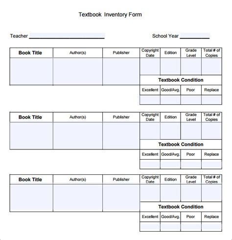 book inventory template book inventory sle 4 documents in pdf