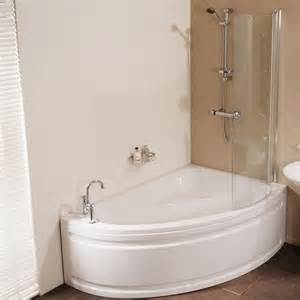 Corner Bath And Shower Vienna 1500 X 1050 Offset Right Hand Shower Bath