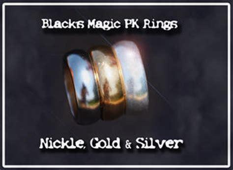 Alat Sulap Pk Ring Black black s magic pk ring silver size 12
