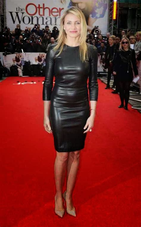 actress cameron black lovely ladies in leather cameron diaz in a leather dress
