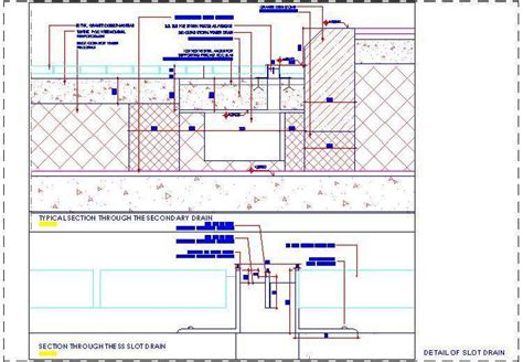general layout of house drainage slot drain construction detail plan n design