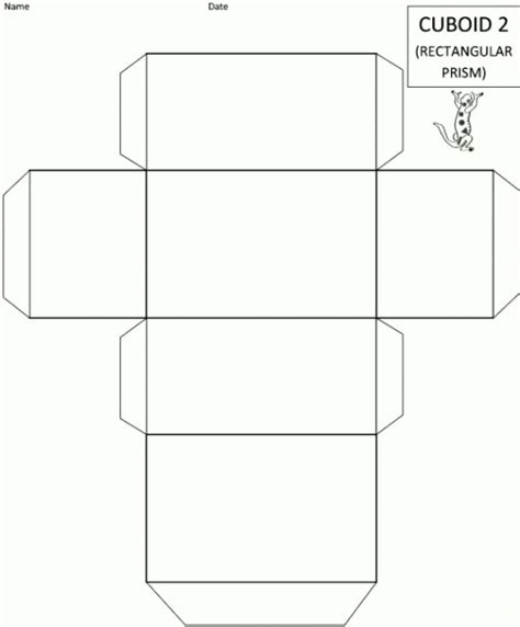 How To Make A 3d Rectangle Out Of Paper - 3d rectangle template printable template update234