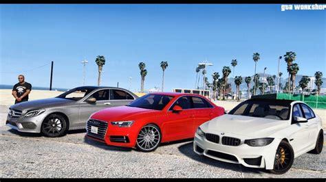 Bmw M3 Vs Audi S4 by Gta 5 Mod Bmw M3 F80 Vs Audi S4 B9 Abt Vs Mercedes C250