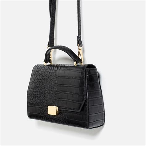 zara mini city bag in black lyst