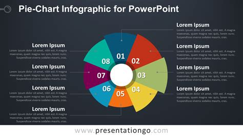 chart powerpoint template pie chart infographic for powerpoint presentationgo