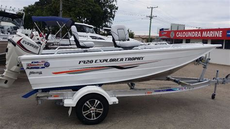 small boat sales qld new quintrex 420 explorer trophy power boats boats