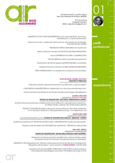 Plantillas De Curriculum Vitae Para Arquitectos Cv Alejandro Arquitecto