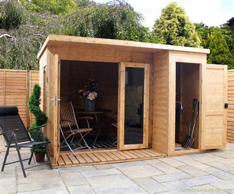 Garden Room Shed by Cotswold 10x8 Modern Garden Room With Side Shed Prefab