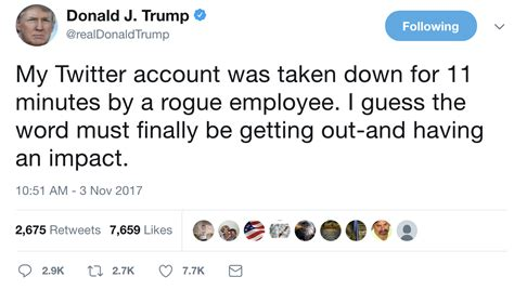 donald trump twitter why was donald trump s twitter account suspended employee