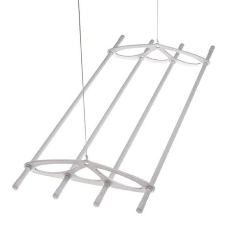 Ceiling Hanging Clothes Drying Rack by Silverstyle 6ft White Hanging Ceiling Laundry Clothes