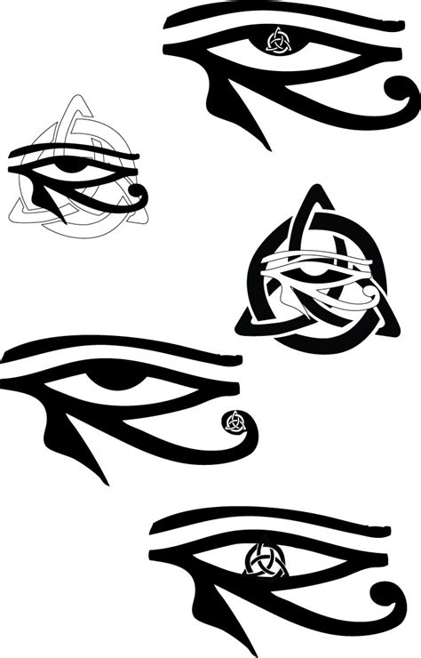 eye of horus tattoo meaning celtic eye of horus tattoos by ravenhartstock on