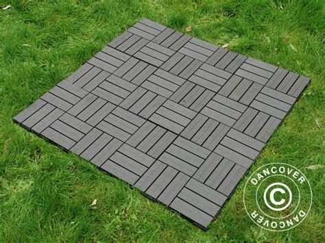terrassefliser i plast terrassefliser wpc klikkgulv squares 30x30cm 9 stk