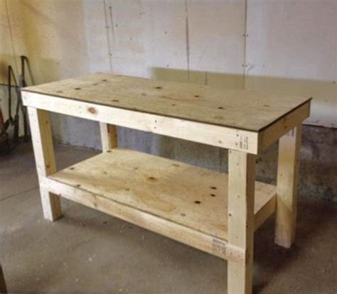 Simple Work Bench Plans Ana White Easy Diy Garage Workshop Workbench Diy Projects