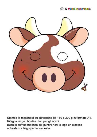 cow mask attivit 224 x bambini pinterest cow mask