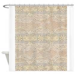 Classic Shower Curtains Vintage Yellow Floral Lace Shower Curtain By Printedlittletreasures