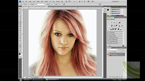 How To Change Hairstyle In Photoshop Cs6 by How To Change Hair Color In Photoshop Cs4 Of Hair