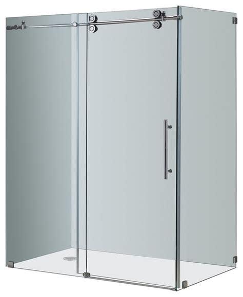 Aston Completely Frameless Sliding Shower Enclosure Frameless Shower Door Kit