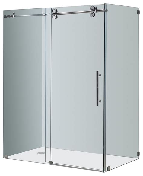 Shower Door Enclosure Kits Aston Completely Frameless Sliding Shower Enclosure Chrome Modern Shower Stalls And Kits