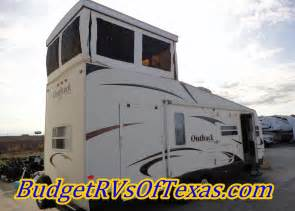 Motorhome Garage Plans 2009 outback loft 27t a full two story bumper pull toy