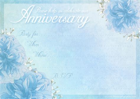 free anniversary invitation card templates 7 best images of anniversary card free printable template