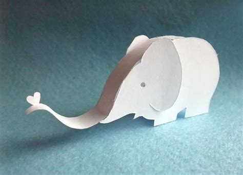 Paper Elephant Craft - paper elephant elephants