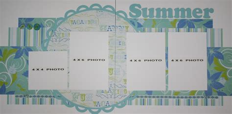 scrapbook layout four photos scrapbooking for others premade summer scrapbook page