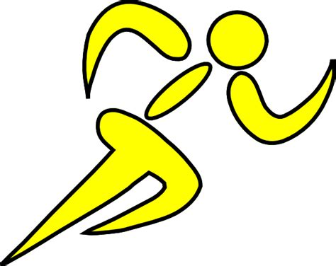 runner yellow clip art at clker com vector clip art
